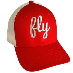 Fly Silver On Red Snap Back Baseball Hat