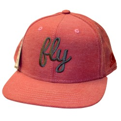 Fly Gray & Red Snap Back Hat