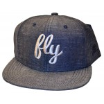 Fly Denim & Silver Snap Back Hat