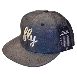 Fly Denim & Silver Snap Back Hat