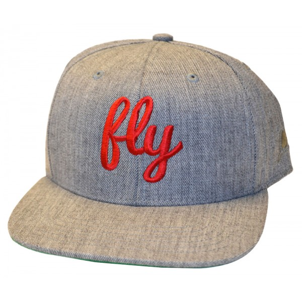 Fly Red & Gray Snap Back Hat