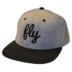 Fly Black & Gray Snap Back Hat