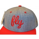 Fly Red & Gray Dual Color Snap Back Hat