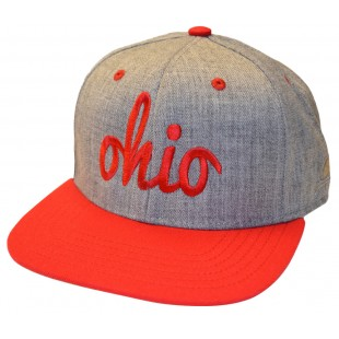 Fly Red & Gray Ohio Snap Back Hat